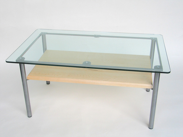 Rectangular Argentia metal coffee table: click for details and larger image