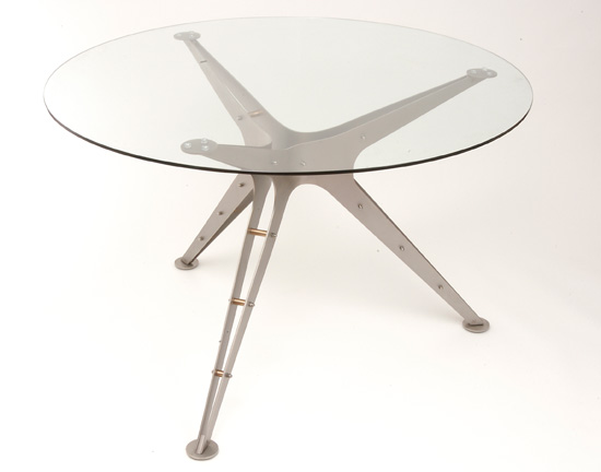 Tahira bespoke metal dining table from                           PMF Designs