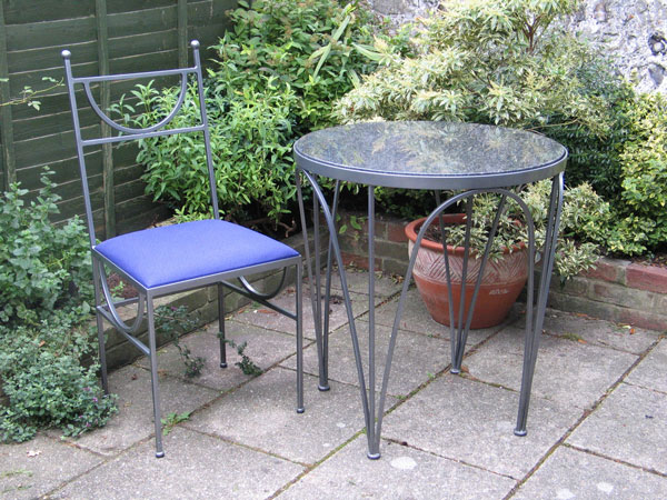 PMF Designs, tahlia metal garden dining set                         for HamptonCourt
